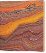 Lava Flow Wood Print
