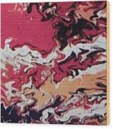 Lava Map Wood Print