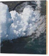 Lava, Meet Ocean 2 Wood Print