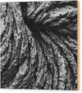Lava Patterns - Bw Wood Print
