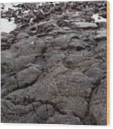 Lava Rock Island Wood Print