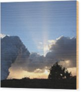 Lava Sunset Wood Print