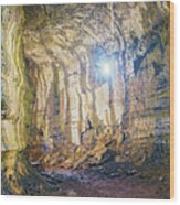 Lava Tunel On Santa Cruz Island, Galapagos Wood Print