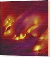 Lava Up Close Wood Print