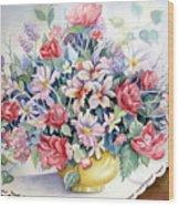 Lavendar And Lace Wood Print