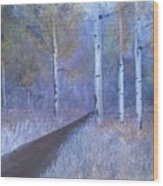 Lavendar Birch  Wood Print