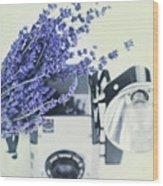 Lavender And Kodak Brownie Camera Wood Print