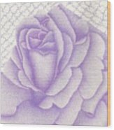 Lavender And Lace Wood Print