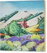 Lavender At Matanzas Creek Wood Print