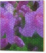 Lavender Azaleas Wood Print