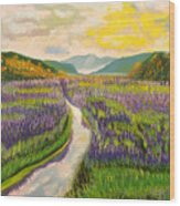Lavender Brook Wood Print