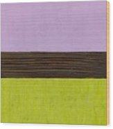 Lavender Brown Olive Wood Print