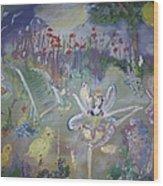 Lavender Fairies Wood Print