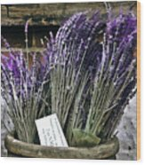 Lavender For Sale Wood Print