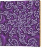 Lavender Fractal  Wood Print