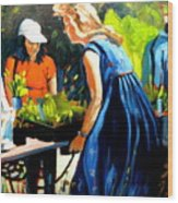 Lavender Girl Wood Print