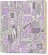 Lavender Hearts Wood Print