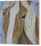 Lavender Horse Wood Print