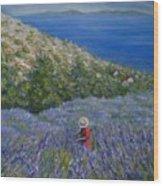 Lavender In Full  Bloom Wood Print