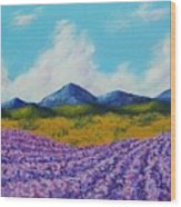 Lavender In Provence Wood Print