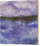 Lavender Land Wood Print