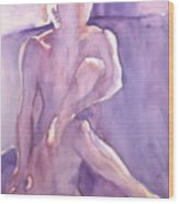 Lavender Nude Wood Print