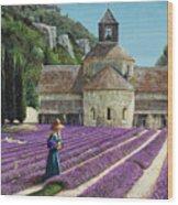 Lavender Picker - Abbaye Senanque - Provence Wood Print