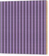Lavender Purple Striped Pattern Design Wood Print