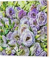 Lavender Ranunculus  Wood Print