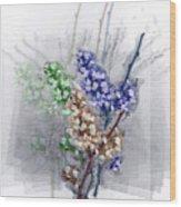 Repose In Lavender  Wood Print