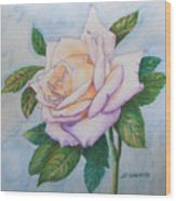 Lavender Rose Wood Print