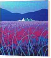 Lavender Scape Wood Print