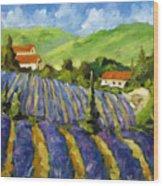 Lavender Scene Wood Print