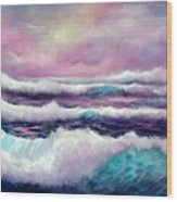 Lavender Sea Wood Print