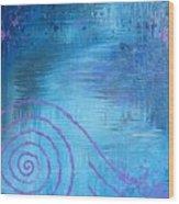 Lavender Spiral  Wood Print