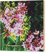 Lavender Upon Gold Wood Print