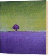 Lavender Valley Wood Print