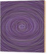 Lavender Vortex Wood Print
