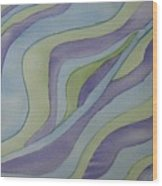 Lavender Waves Wood Print