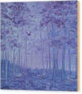 Lavender Woods Wood Print