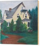 Lavern's Bed And Breakfast Wood Print