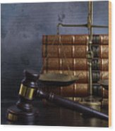 Law And Justice II Wood Print