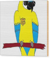 Law Macaw - Yellow Wood Print