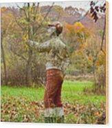 Lawn Jockey Wood Print