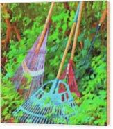 Lawn Tools Wood Print