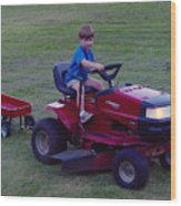 Lawnmower Boy Wood Print