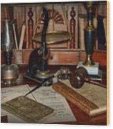 Lawyer - A Lawyers Desk Wood Print