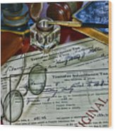 Lawyer - The Tax Attorney Wood Print