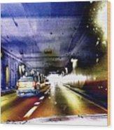 Lax Tunnel Wood Print