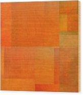 Layer Study - Orange Wood Print